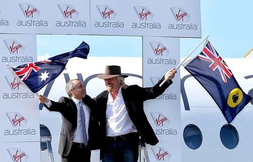 Virgin Australia Richard Branson Stage