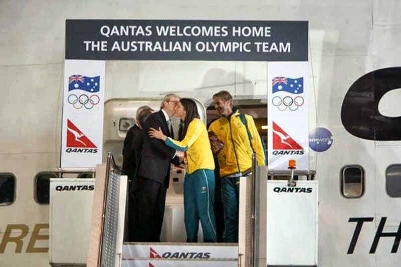 Qantas Australian Olympic Team Plane Welcome Stage