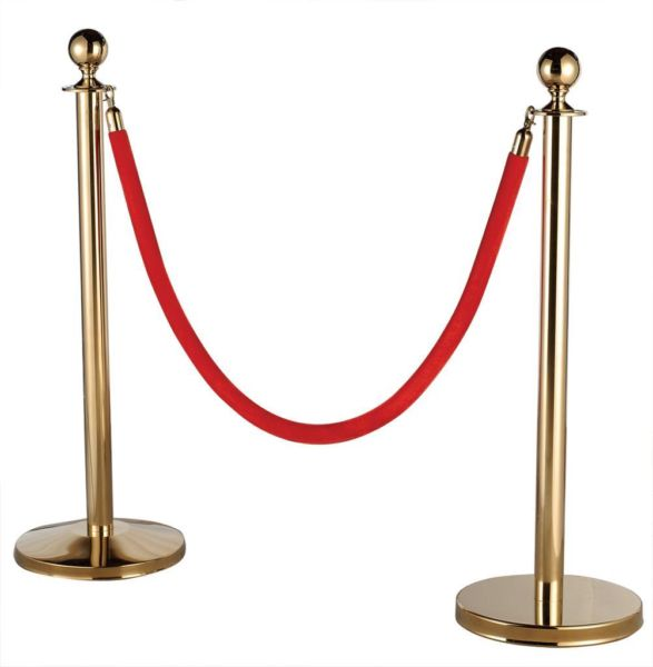 Stanchion - gold w/ red rope
