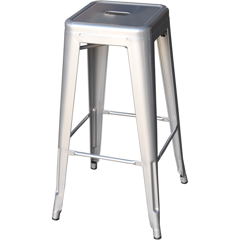 Stool - Tolix (silver) - 760mmH
