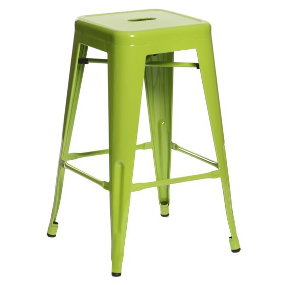 Stool - Tolix (green) - 660mmH