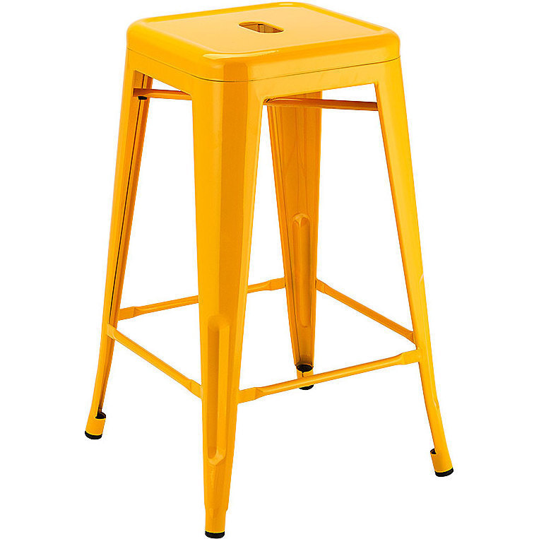 Stool - Tolix (yellow) - 660mmH