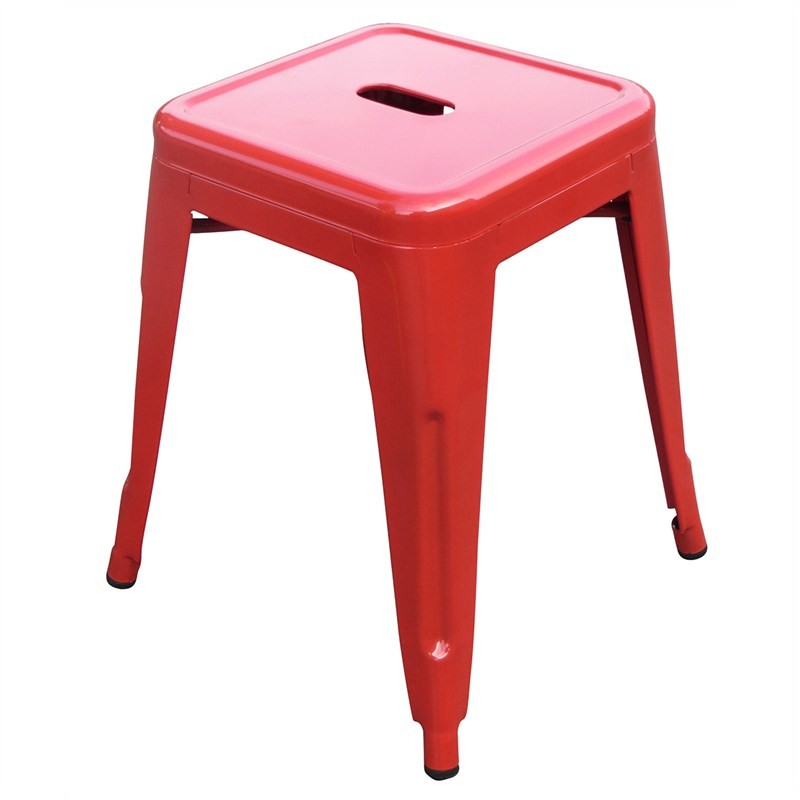 Stool - Tolix (red) - 450mmH